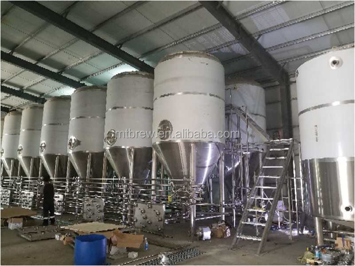 ऑस्ट्रेलिया 10000l बियर कारखाने 10HL किण्वक बीयर पक उपकरण गर्म बिक्री बड़े किण्वन टैंक