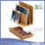 Eco-Friendly Bamboo Multi-Device Charging Station and Large Cord Management Box