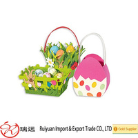 China Supplier Fashion Egg Hunting Felt Easter Bag for Gift
