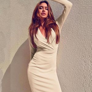 Wholesale Ladies Office Bodycon Dress Plus Size Women Business Pencil Dress