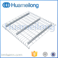 Warehouse galvanized/powder coating steel wire mesh decking panels