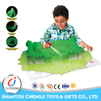 Hot selling colorful magic glowing artificial sand for kids