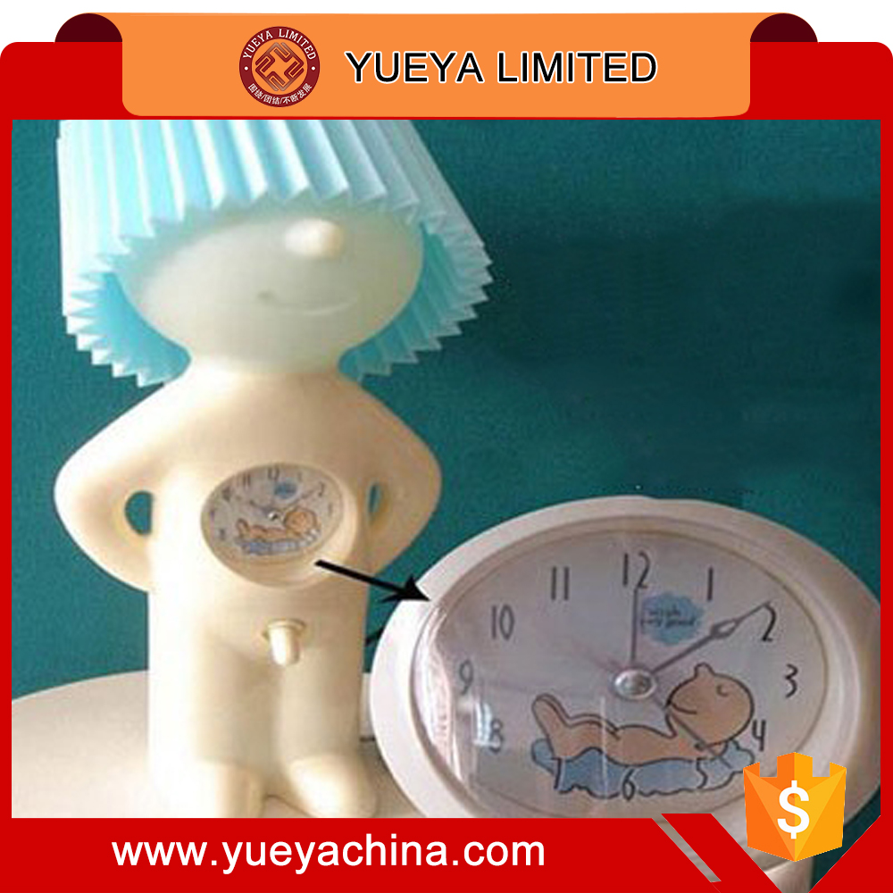 lovely Mr. P series a little bit shy design table lamp with alarm clock