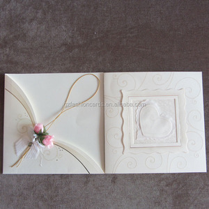 Ideal Products 2016 Newest Muslim Pockets Wedding Invitation Card