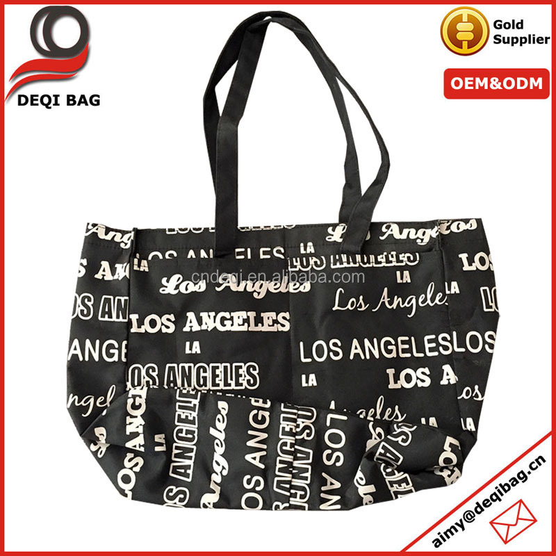 Los Angeles Fashion Tote Bag City Name Printing Nylon Souvenir Bag