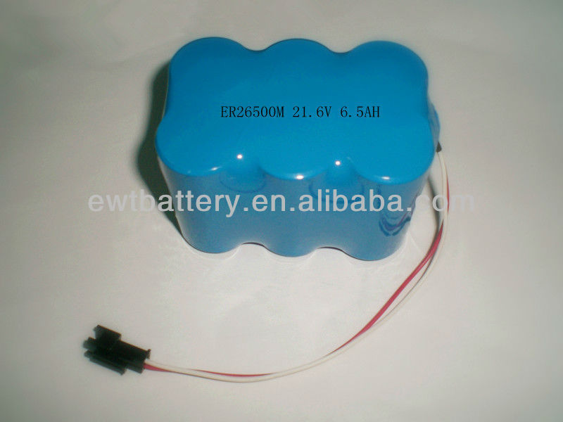 lithium battery ER26500 21.6v 8500mah battery with connector