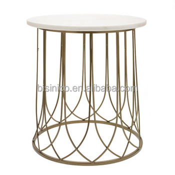 Hexagonal Design Marble End Table With Iron StandNeoclassical - Hexagon marble coffee table