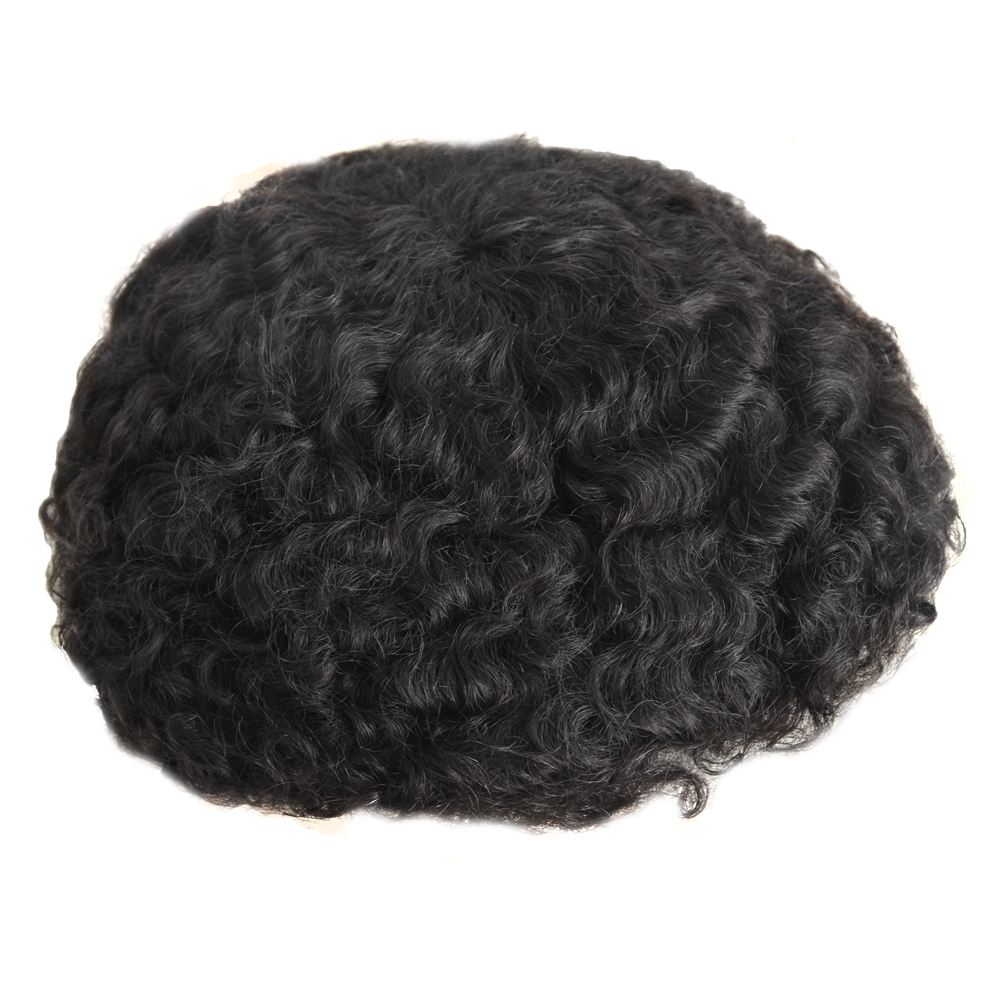 6mm 10mm 12mm 15mm Wave Unit Men Afro Hair Toupee For Black Men
