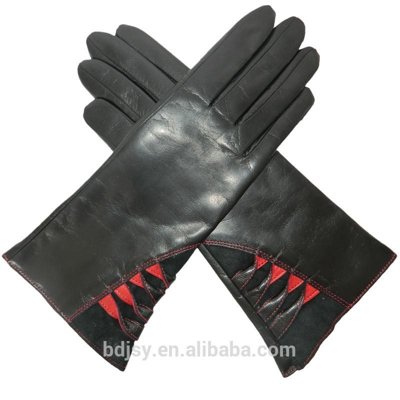 fashion sexy women dress wholesale leather glove