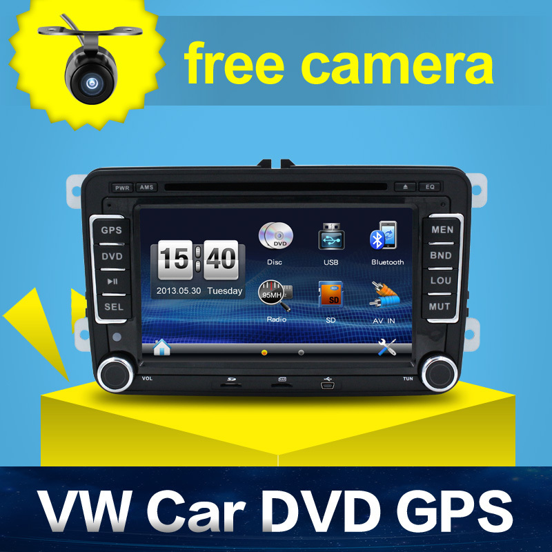 Hot Sale 2 DIN Car DVD for VW JETTA GOLF MK5 MK6 GTI PASSAT B6 POLO SKODA Fabia GPS Navigation ...