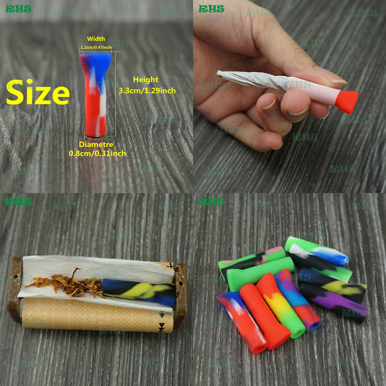 Hookah tube disposable smoking pipes triple filtration silicone filter cigar tips, custom cigarette drip tip wholesale