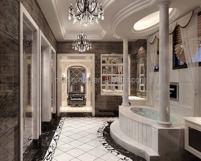 Luxury Exquisite New Bulit Villa Bathroom Interior Design With ...