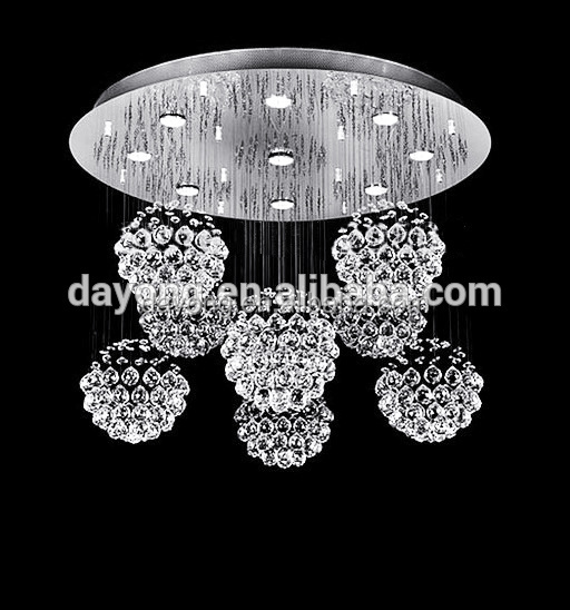k9 Square Tube Lustre Waterproof Ceiling Lighting For Living Room
