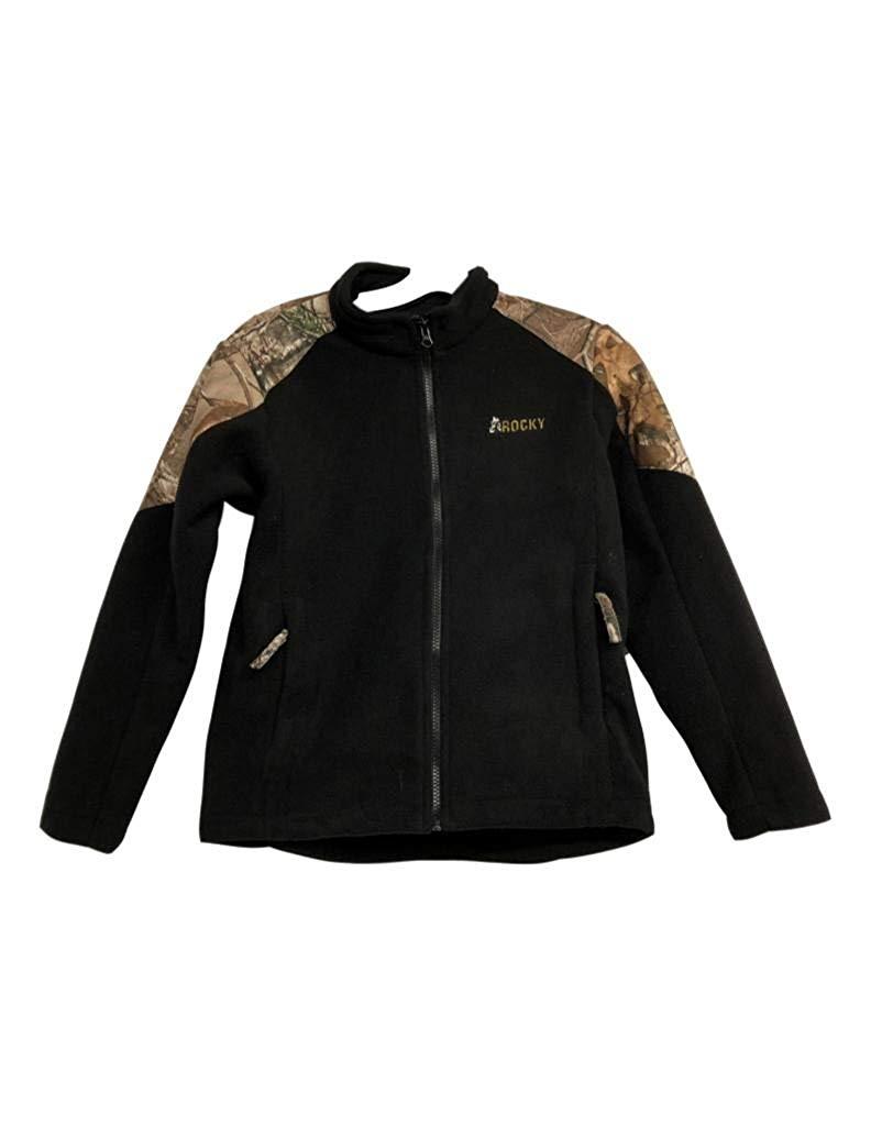 Realtree Men/'s Aspen Max-5 Camo /& Blaze Full Zip Fleece Jacket Coat Large