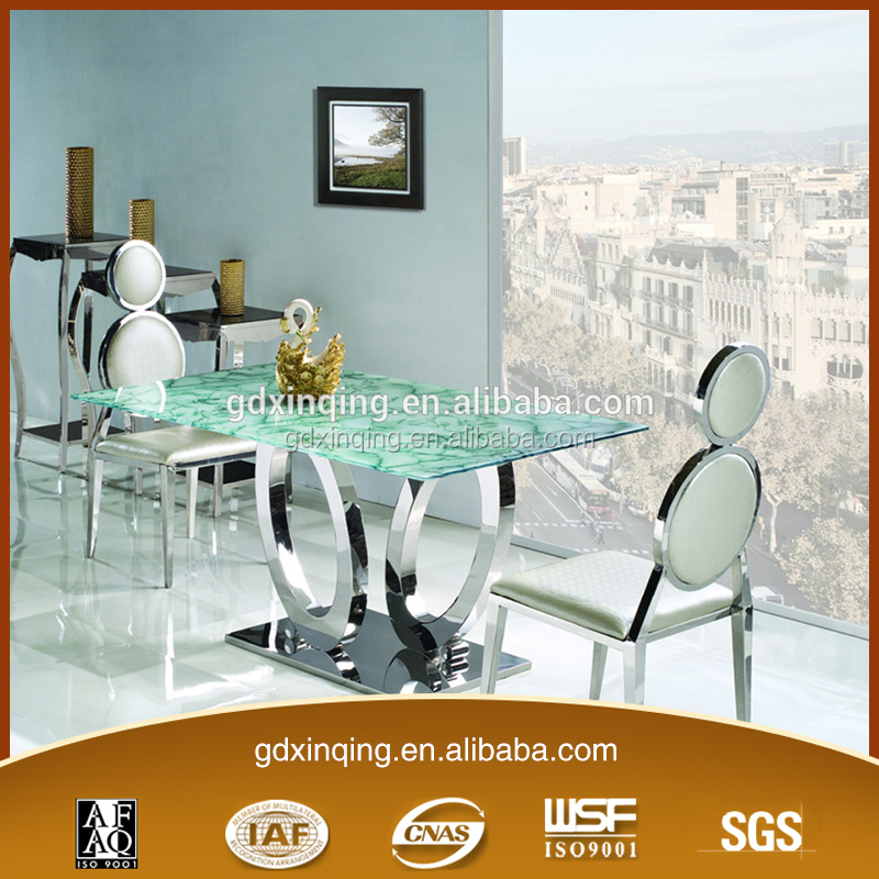 TH285 China Flower Green Classic Furniture Square Kitchen Table