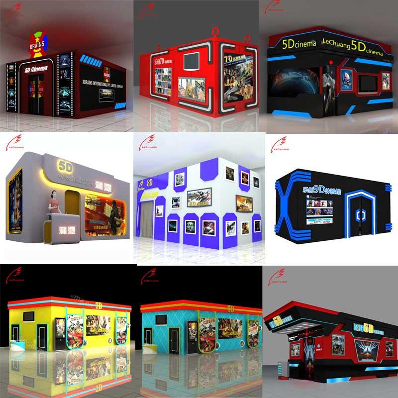 2020 สินค้าใหม่ 5D/7D/8D น่าสนใจ Cinema 6/8/9 ที่นั่ง Platform สวนสนุกอุปกรณ์ 7D Cinema อุปกรณ์