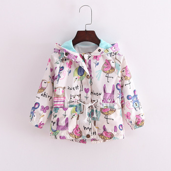 599210967b6 BRE06 Kids Jackets & Coats Cute Cartoon Graffiti Baby Girl Warm Coat Hooded  Jackets Children's Jacket