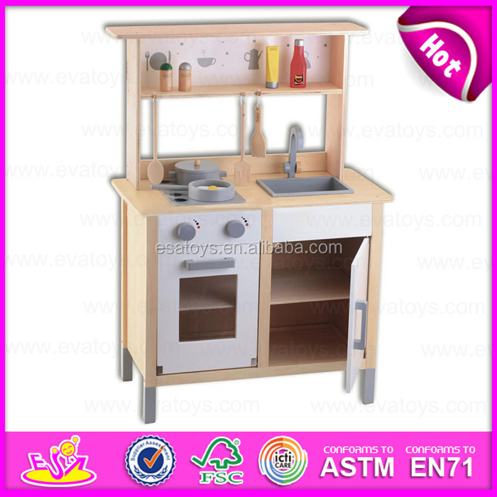 2015 pretend diy kids wooden toy kitchen,role play wooden toy