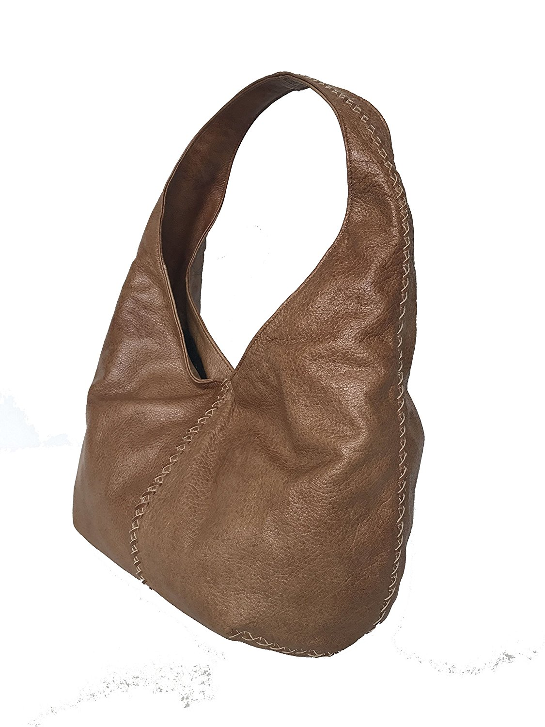 07c3cd82c0 Get Quotations · Fgalaze Brown Leather Hobo Bag