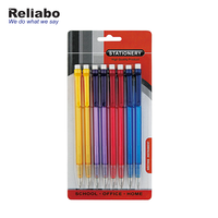 Reliabo Promotional Kids Stationery Set Custom Logo Durable Transparent Automatic Pencil