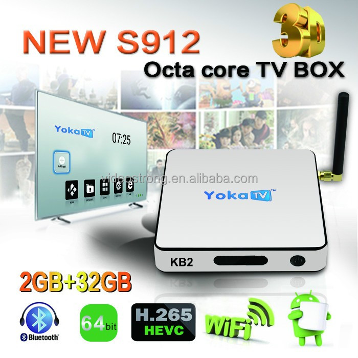 The best solution! KB2 pro android6.0 tv box Amlogic S912 Octa core DDR4 3GB 32 GB Kodi 17.0 WIFI 2.4G+5G Ethernet 1000M 4K UHD