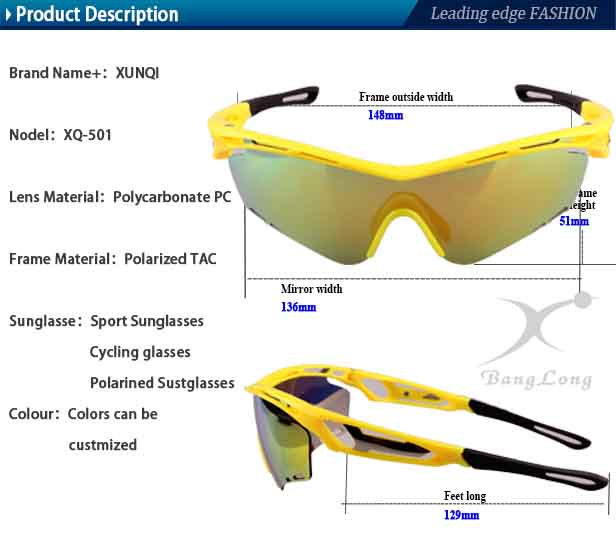 FASHION colorful sport eyewear with conjoined lenses TR90 frame
