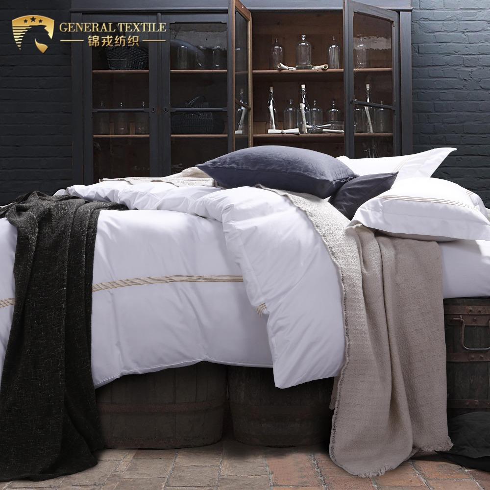 Egyptian cotton embroidery wedding bedding set satin bed sheet set bedding