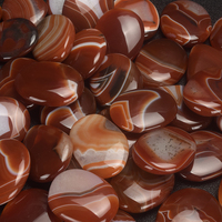 wholesale natural gemstones carnelian worry stones, healing reiki products
