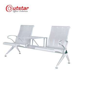Commercial Furniture General Use and Metal Material Airport Waiting Chair with Tea Table
