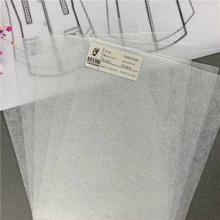 1025HF Chinese Manufacturer Quality Guaranteed Polyester Paper Embroidery Embroidery Interlining