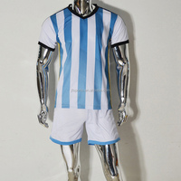 Newest! World Cup 2014 Argentina Thailand Grade Original Soccer Jersey,Football Jersey Grade Ori Youth Soccer Uniform Set