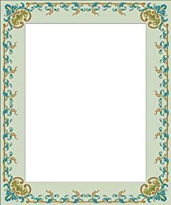 Picture Matting-Green Vine & Leaves-Etched Vinyl Stained Glass Film, Static Cling Photo Frame Decal
