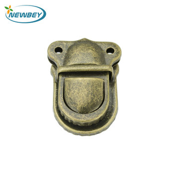 China Suppliers Small Handbag Hardware Antique Metal Turn Lock