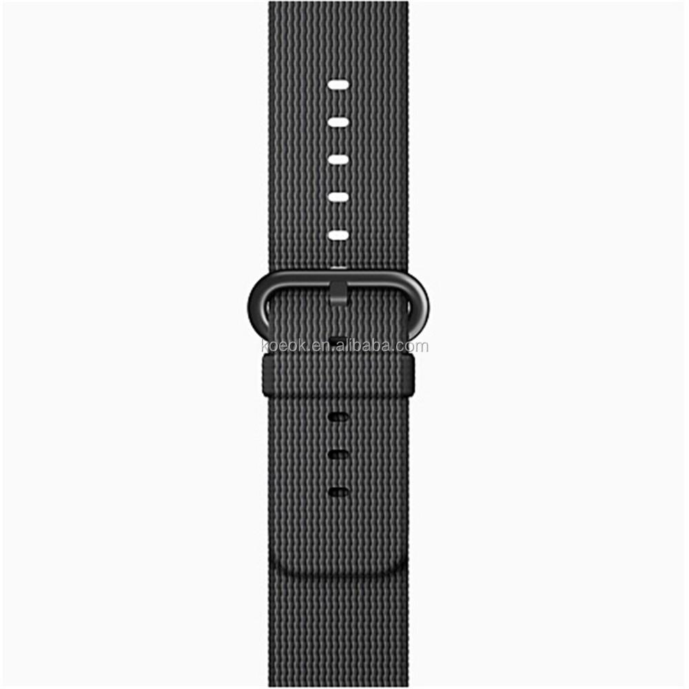 New 38mm 42mm Nylon Braided Iwatch Watchband F Apple Watch Band ...