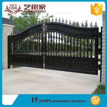 Yishujia Factory Paint Main Gate Colors Wrought Iron Gate