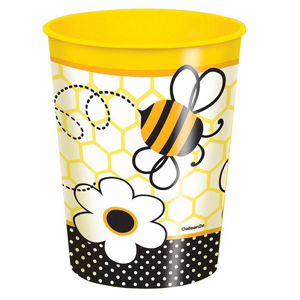 16oz Bumble Bee Plastic Cup