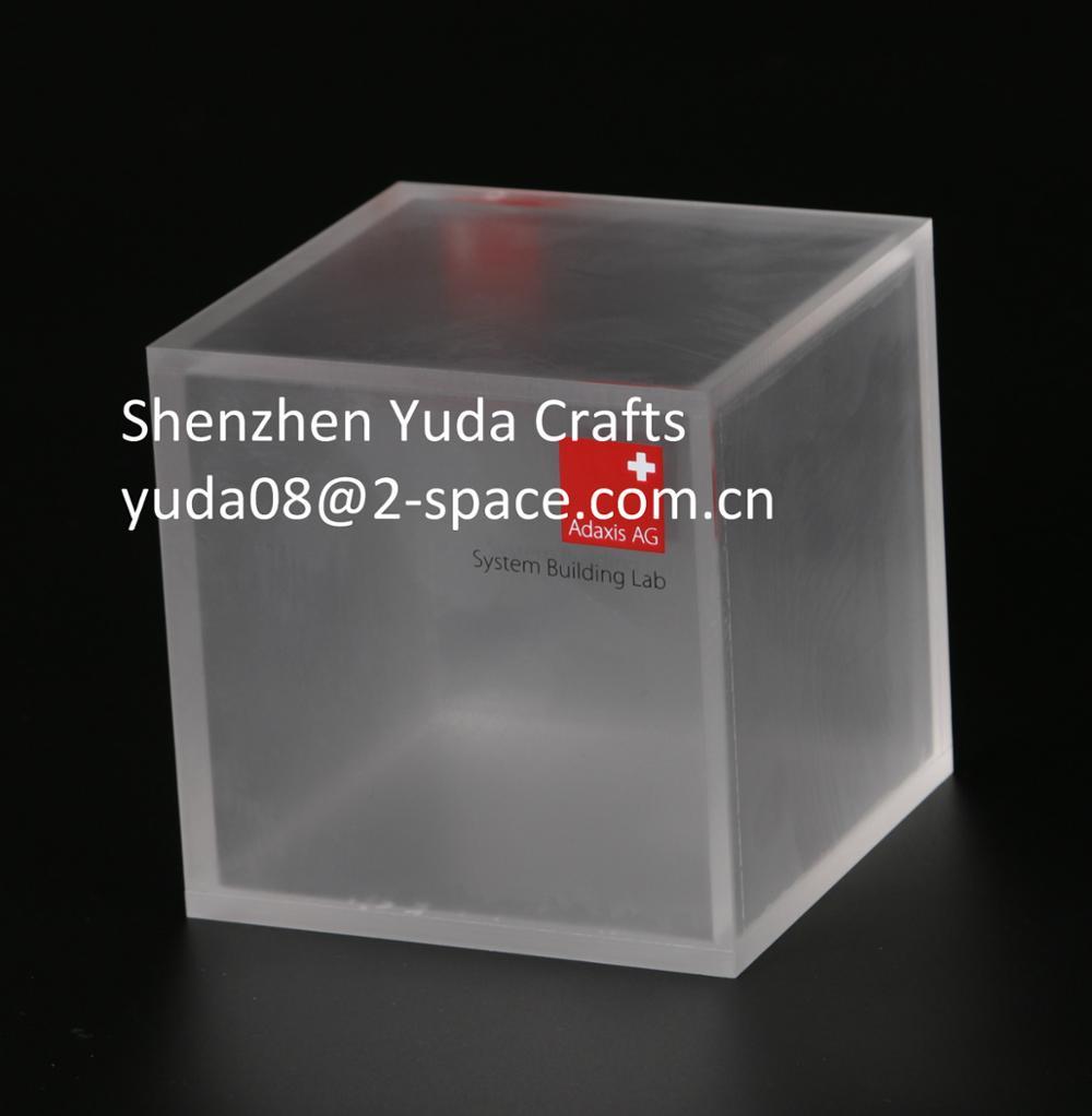 Frost Plexiglás 6 Lados Caso Borroso Cubo De Acrílico Pantalla Personalizada Hollow Cube Buy Cubo Acrílico Borroso,Escarcha Plexiglás 6 Lados