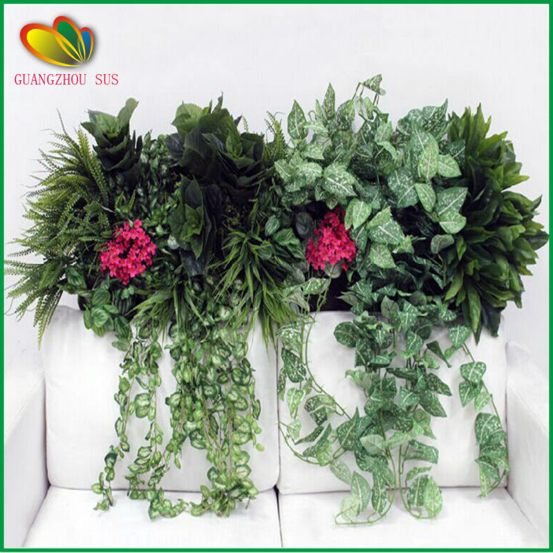 2015 fashion promotion artificial green wall artificial plant wall for decoration