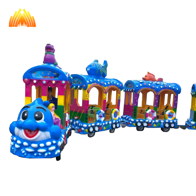 Best price sea animal trackless train for sale