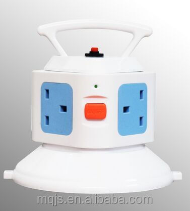 English Gauge Socket with USB Switch Socket Multi-functional Intelligent Vertical Rotary Socket
