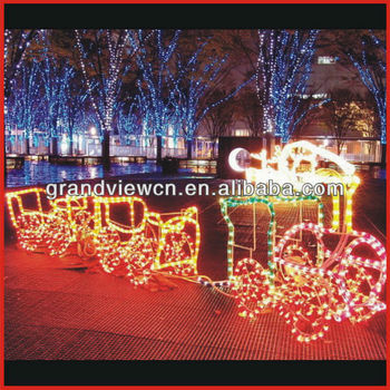magic colourful christmas train lights 3d led motif light with ce rohs