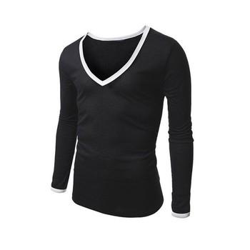 2017 Hot Sale Long Sleeve T Shirt V Neck T Shirt Men S T Shirt