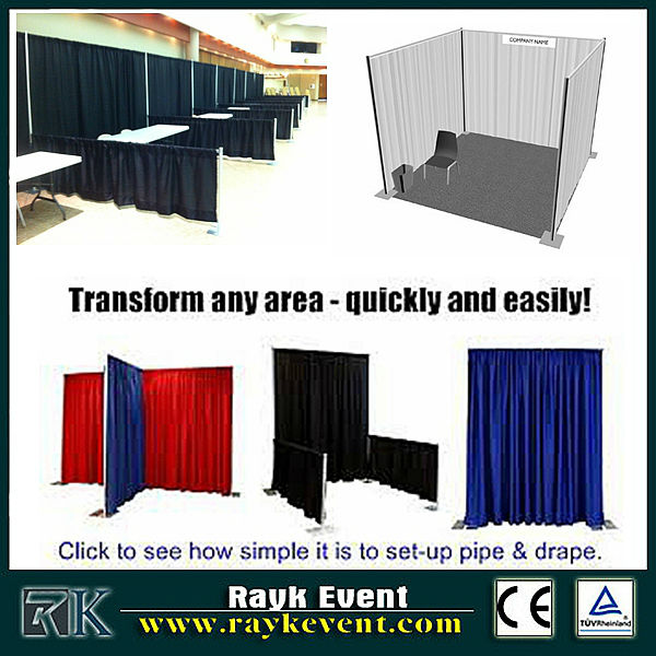 Singapore wholesale aluminum extrusion trade show booth/ pipe and drape rental chicago