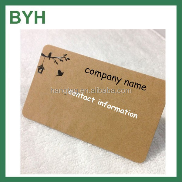 Customized style Kraft paper business cards round embossed business cards shaped business cards