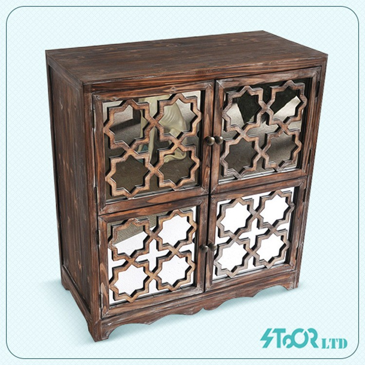 Design nature mirror wood drawer chest