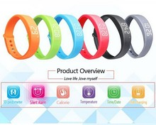 3D Smart Bluetooth USB Bracelet Watch Calorie Counter Sleep Monitoring Wristband Running Instructions W5 Pedometer