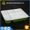 Rectangular plastic disposable 5 compartment pp bento box