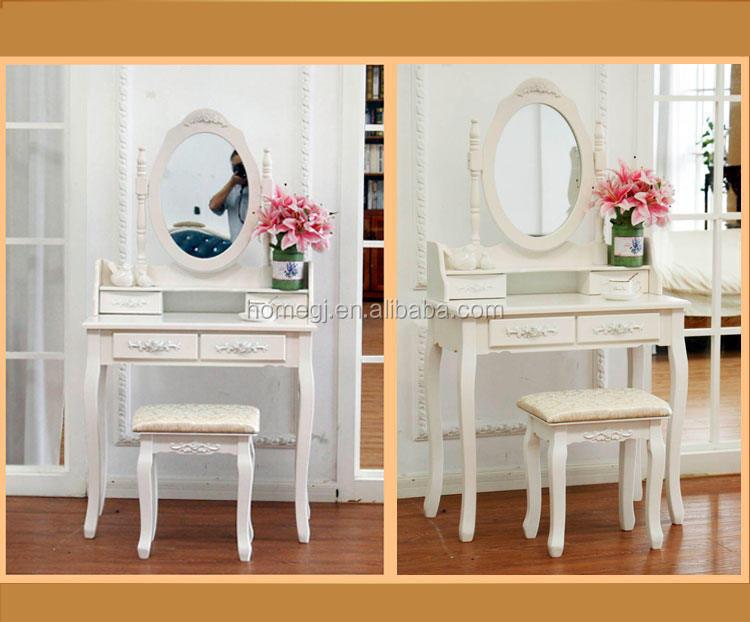 estilo moderno francs blanco nias silla de tocador dormitorio muebles espejo vestirse conjunto