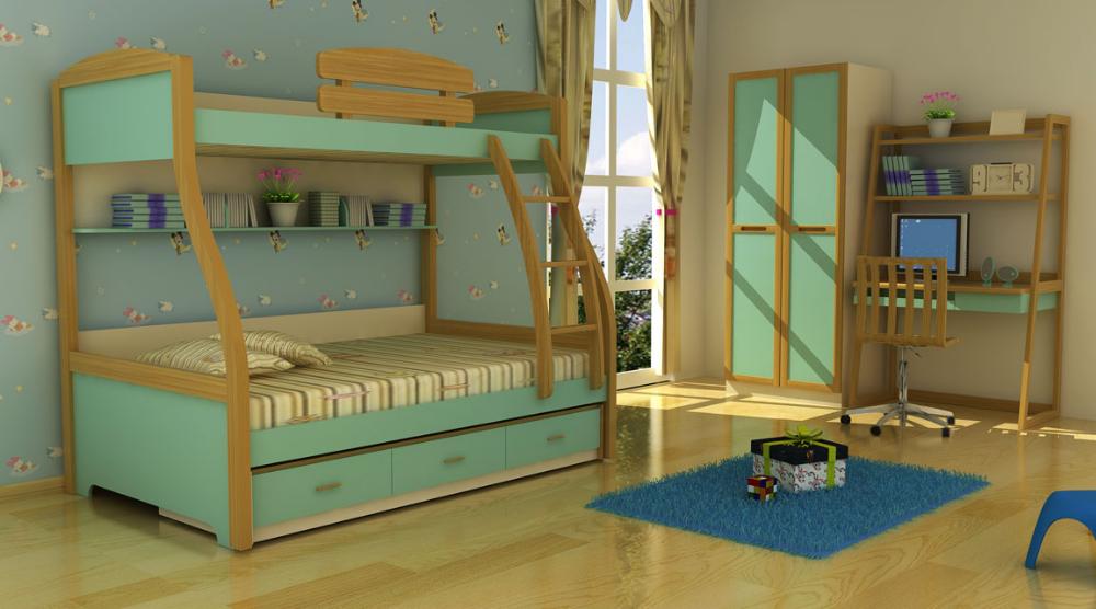 Etagenbett Dreistöckig : Bett für drei kinder etagenbett mdf dreifach