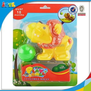 rubber lion animal toy poppers